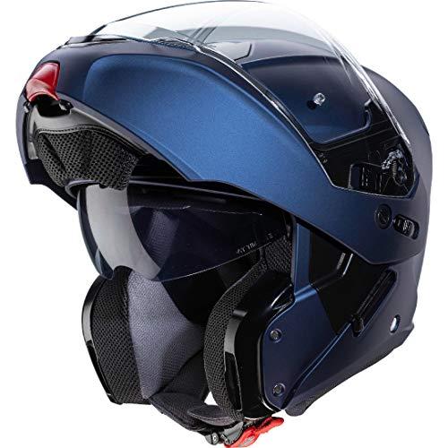 Caberg Horus Motorradhelm mit Klappdeckel, Matt blau, xl