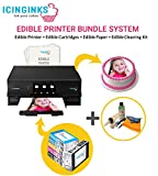 Icinginks Latest Edible Printer, Cleaning Kit, Edible Cartridges, 50 Icing Sheets, Birthday Cupcake - Best Reviews Guide