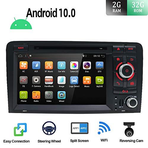 Android 9.0 Autoradio Estéreo de navegación GPS Compatible Para Audi A3 2003-2011   Gratis Cámara & Canbus   2 Din 7 pulgada 2GB/32GB  SD  USB  DAB+ Soporte  3G/4G  WLAN  Bluetooth MirrorLink Volante