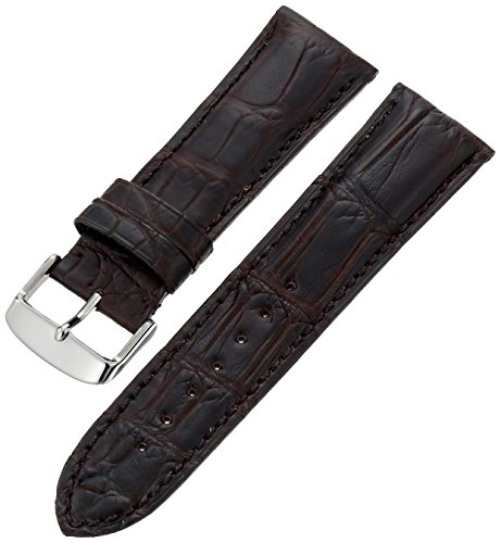 Hadley-Roma Men's 20mm Leather Watch Strap, Color:Brown (Model: MS2022RZ-200)