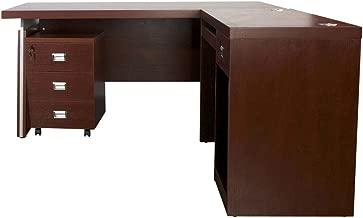 Mahmayi Dupla Modern Executive Desk, Apple Cherry, 160 x 180 x 76.1 cm, ME3216APL