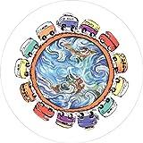 LREFON 14'-17' Custodia Ruota di Scorta 13 Autobus Hippie in Tutto Il Mondo SUV Copriruota