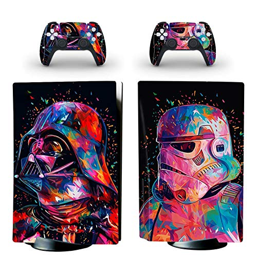 gotor Vinyl Sticker Pattern Decals Skin for PS5 Playstation 5 Console and 2 Controllers Skins (Playstation 5, Type-T)