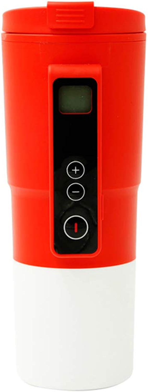 Kuandar Creative Tasse De Chauffage De Voiture en Acier Inoxydable Tasse à Café Tasse Intelligente