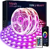20M Bluetooth Striscia LED RGB, KOOSEED LED Strisica Luci LED Colorate, Nastri LED 5050 SMD APP Control Compatibile Musica, Strisce Led Adesive per Camera da letto, Feste, Casa, Bar