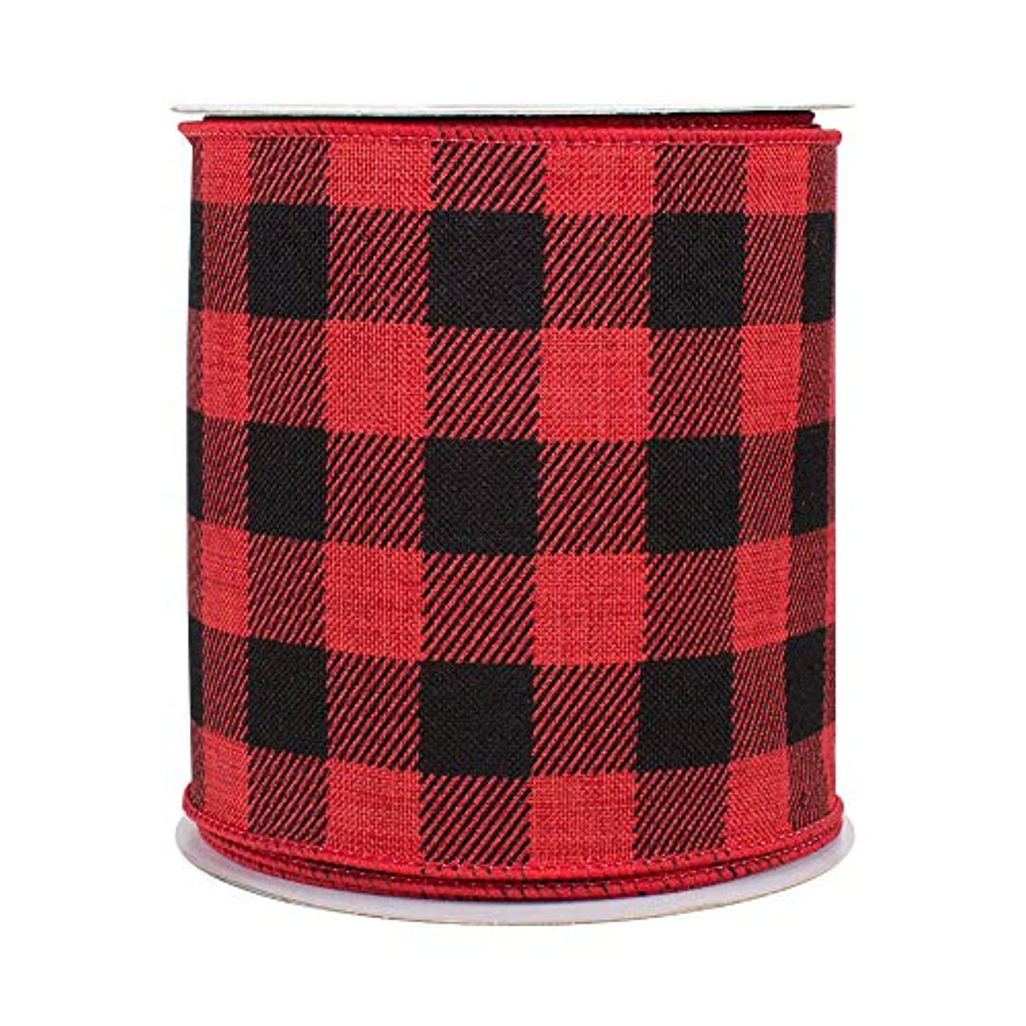 Buffalo Plaid Wired Ribbon Decoration - 4