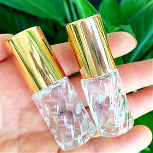 10個5ml透明交換旅行空ロールオンガラス香水瓶容器コスメ詰替え便利