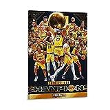 Ghychk Póster deportivo de baloncesto de Superstar LeBron-James, impresión de moda, decoración de la sala de estar, listo para colgar, 20 x 30 cm