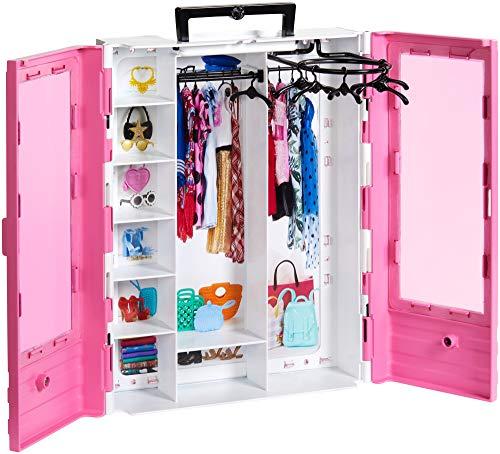 Barbie Armadio Fashionistas Rosa con Accessori, Bambola non Inclusa, Giocattolo per Bambini 3+ anni, GBK11