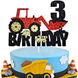 Migeaks Engineering truck 3st happy birthday cake topper construction thesuppliesme engineering truck cake topper excavator party cake decoration
