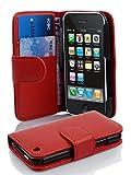 Cadorabo Coque pour Apple iPhone 3 / 3S / 3GS Rouge Cerise Housse de Protection Etui Portefeuille Case Cover pour iPhone 3 / 3S / 3GS – Stand Horizontal et Fente pour Carte