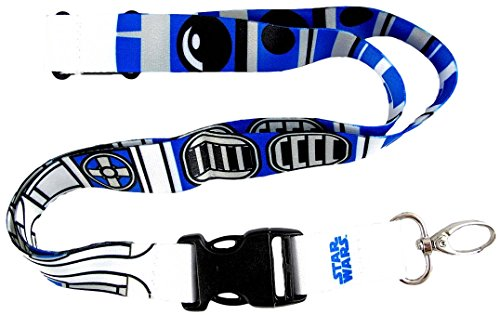 Price comparison product image Plasticolor 004462R01 Star Wars R2-D2 (R2D2) Pattern Lanyard Keychain