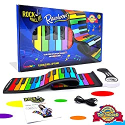 top 10 roll up piano MUKIKIM Rock and roll original rainbow piano. Contains a collection of songs that can be played in color! flexible,…