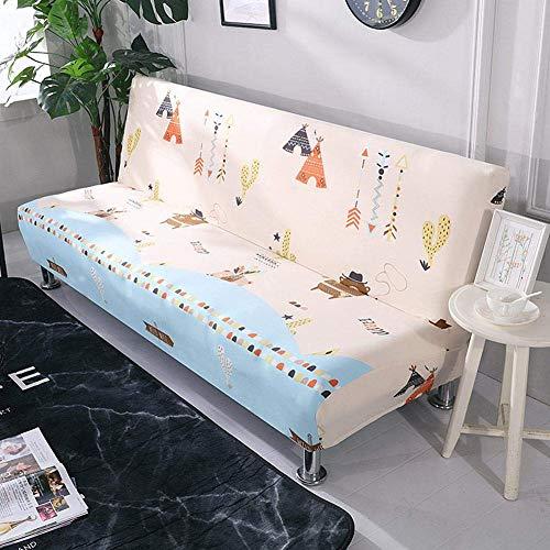 YWYW Funda de sofá elástica sin reposabrazos Funda de sofá Plegable con Todo Incluido Funda de Cama Tipo de Cama Funda Completa Universal para sofá Toalla
