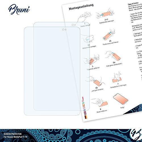 Bruni Schutzfolie kompatibel mit Huawei MediaPad T1 10 Folie, glasklare Displayschutzfolie (2X) - 2