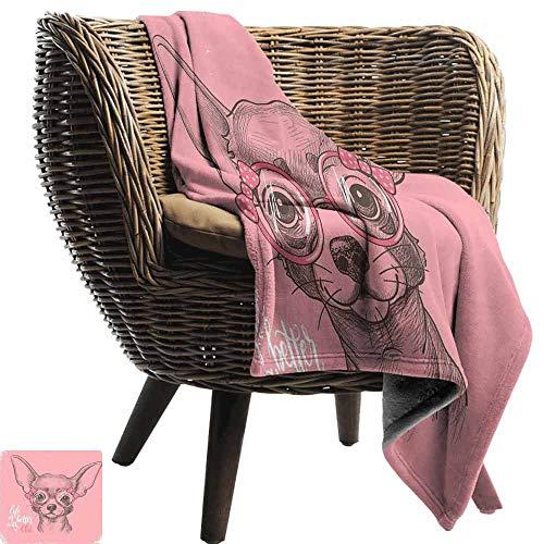 Custom&blanket Manta cálida de Invierno para Perro, diseño Abstracto de la Raza Beagle con Formas geométricas Corazones espirales y líneas Cortas de Amor, Manta sofá