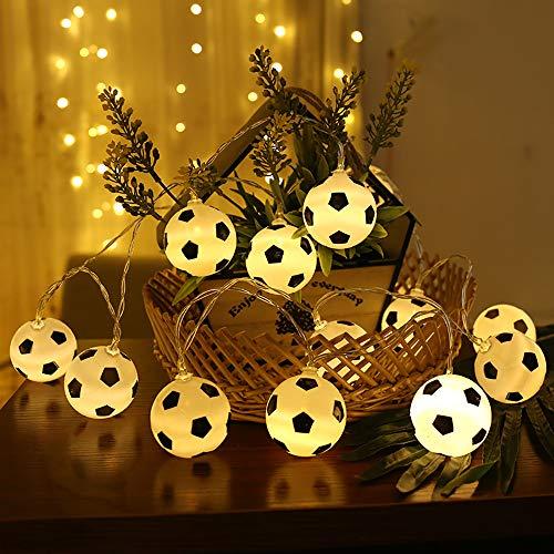 Fußball Schnur Lichter, Fußball geformte Seil Lampe MMTX LED lustige Schnur Lichter Innenfeenhafte Lichter Fußball Hauptdekorations Licht für Fußball Weltfeier 2018 Russland FIFA.