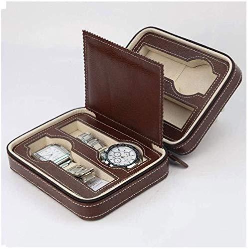 pojhf GYDSSH Bolsa de Almacenamiento de cajones Caja de joyería Negra Caja de Almacenamiento de Relojes Caja de Almacenamiento de Cuero Hombres y Mujeres
