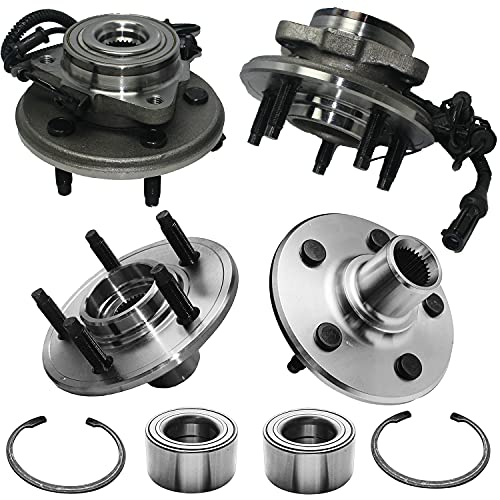 Detroit Axle - Front Wheel Bearing and Rear Hub Assembly Replacement for 2002...