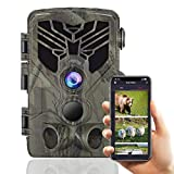 Suntekcam WiFi Trail Camera - 24MP 1296P Bluetooth Game Camera with Night Vision Motion Activated Outdoor Scouting Wildlife Hunting Camera IP66 Waterproof