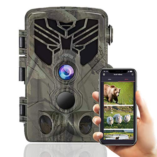 Suntekcam WiFi Bluetooth Trail Camera 24MP 1080P Game Camera with Night Vision Motion Activated Outdoor Scouting Wildlife Hunting Camera IP66 Waterproof