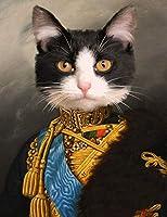 番号によるDiyダイヤモンド絵画スーツの猫ラウンドフルドリル刺繡絵画ラインストーンDiy絵画クロスステッチアート家の壁の装飾のための工芸品刺繍ダイヤモンドモザイクアクセサリー40X50cm