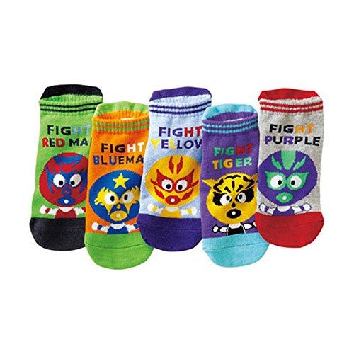 CICI Best Baby Socks-5 Pairs Baby Cartoon Car Socks Children Straight Boat Socks Cotton Socks for 1-8 Years (color 2, 6-10 years)
