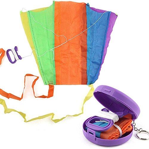 Teabelle Klappbarer Drachen Bunt Taschendrachen Kinder Spielzeug mit Aufbewahrungstasche
