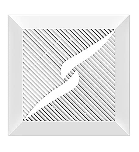 JXH Extractores De Ventilación De 8'/ 10' / 12', Ventilador De Escape Montado En La Pared O En El Techo Válvula De Retención Incorporada, para Baño, Dormitorio 220M3 / H,10 Inch