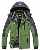 Wantdo Men's Waterproof Ski Jacket Fleece Outdoor Winter Coat...