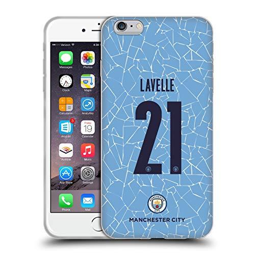 Head Case Designs Oficial Manchester City Man City FC Rosa Lavelle 2020/21 Kit Hogar Mujer Grupo 2 Carcasa de Gel de Silicona Compatible con Apple iPhone 6 Plus/iPhone 6s Plus