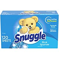 Snuggle Fabric Softener Dryer Sheets, Blue Sparkle, 120 Count by Snuggle