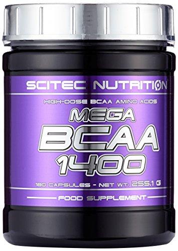 Scitec Nutrition Amino Mega BCAA 1400, 180 Kapseln, 1er Pack (1 x 256g)