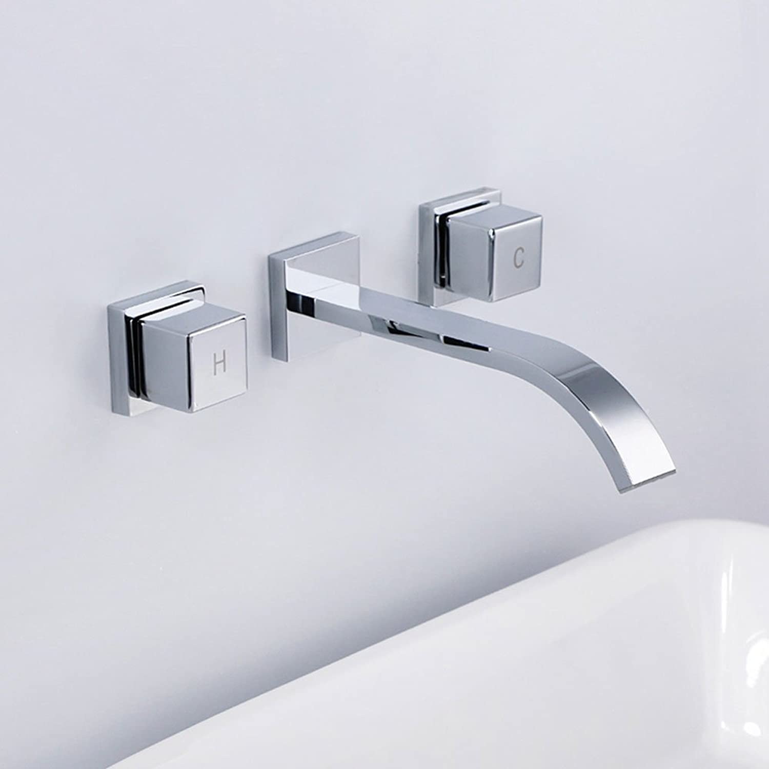 CHENGYI Home Modern High-end Fashion Faucet Waterfall in Wall Basin Mixer