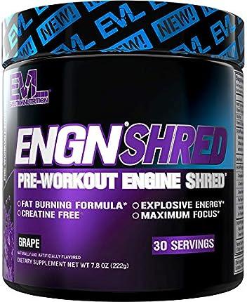 Evlution Nutrition ENGN Shred - Quemador de grasa termogénico, energía, pérdida de peso, 30 porciones (uva)