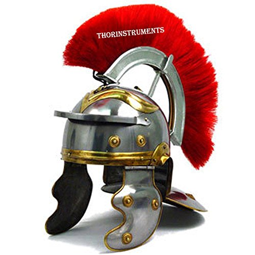 THORINSTRUMENTS Römischer Offizier Centurion Historischer Helm Rüstung 18 g Stahl