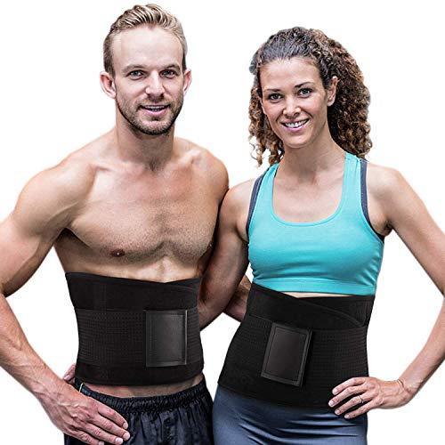 Cinturón Entrenador, Cintura Ajustable para Pérdida Peso Faja Deportiva de Sudoración para Abdomen y…