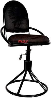 msr 01 Stool top revolving Height Adjustable Chair Metal Leg with Powder Coating Black