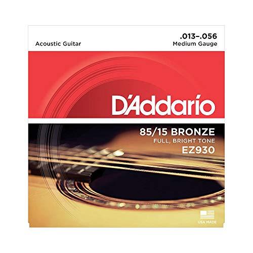 D'Addario EZ930 Satz Akustikgitarren-Saiten, Bronze 013' - 056'
