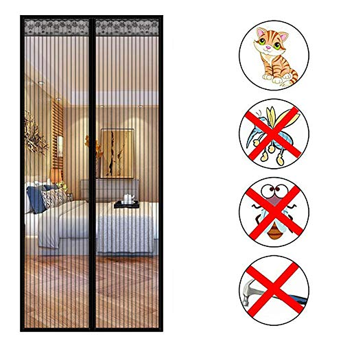 Living Room and Patio Doors are Automatically Closed by Insect Screens and Installed with Without Drilling Magnetic Fly Insect Screen Door Apply to Balcony Doors