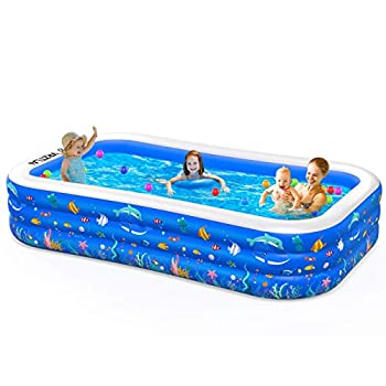 Inflatable Swimming Pool 120  X 72  X 22  Inflatable Kiddie Pool Full-Sized Family Lounge Pool for Kiddie Kids Adults Toddlers Infant for Ages 3+ Outdoor Garden Backyard Summer Water Party