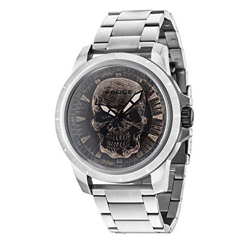 Police Reloj Análogo clásico para Hombre de Cuarzo con Correa en Acero Inoxidable 14385JS/57M