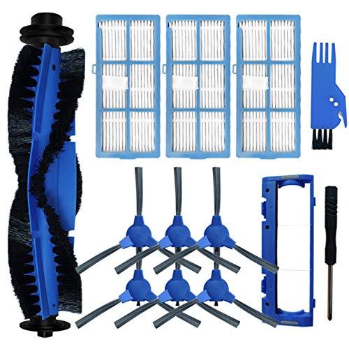 SDFIOSDOI Parti per aspirapolvere Filtro della Spazzola Laterale della Spazzola Principale Adatta per Kyvol e30 / E31 / E20 Poliche di Ricambio per la Pulizia del Robot (Color : Blue)
