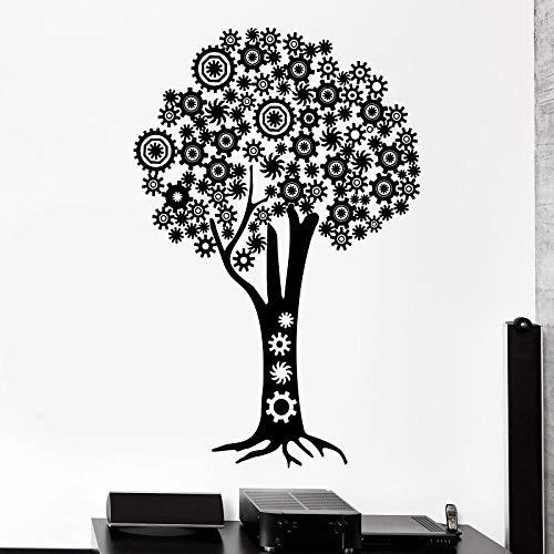yaofale Mechanische Baum Steampunk-Ausrüstung Vinyl Wandtattoo Büro zu Hause Schlafzimmer kreative Art-Deco-Aufkleber Wandbild