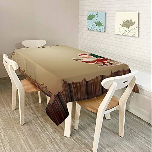 DJUX Mantel-Arte Mantel-Serie Navidad4-Sala-Comedor-Impermeable Hotel 140x180cm