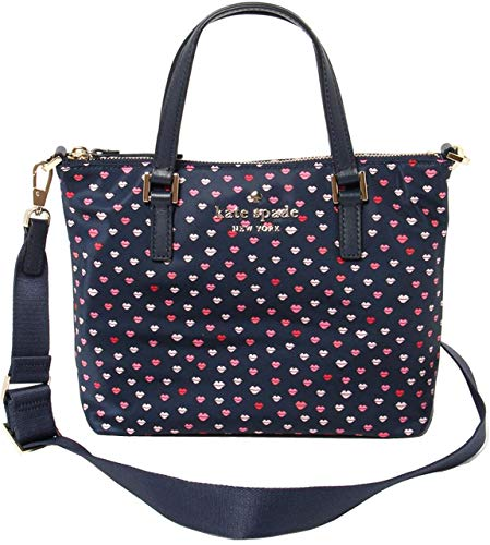 Kate Spade Lucie Lips Watson Lane Nylon Satchel Crossbody Bag