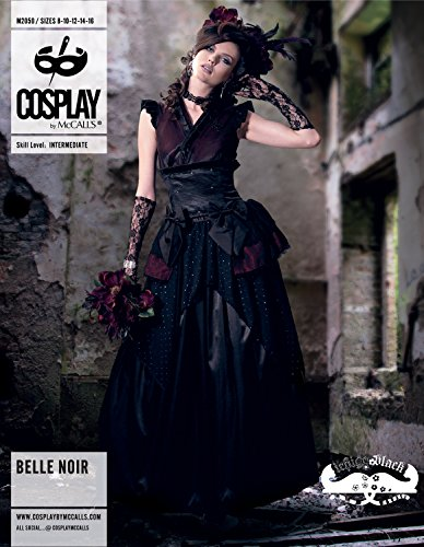 Cosplay By McCall's Belle Noir Schnittmuster, Mehrfarbig, B5 (8-10-12-14-16)