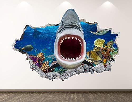 Shark Themed 3D Wall Art Decor
