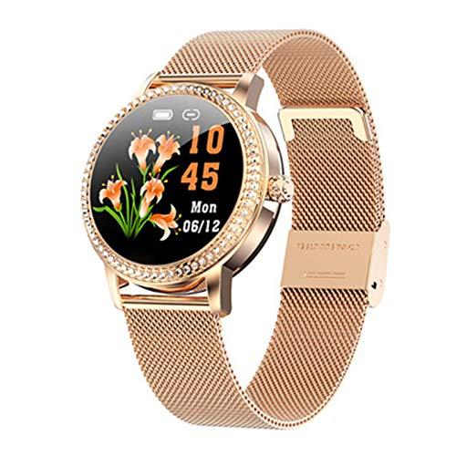 VBF Smart Watch M8 Ladies Smart con Monitor De Ritmo Cardíaco Monitor Fitness Tracker IP68 Pulsera Impermeable para Las Señoras,C