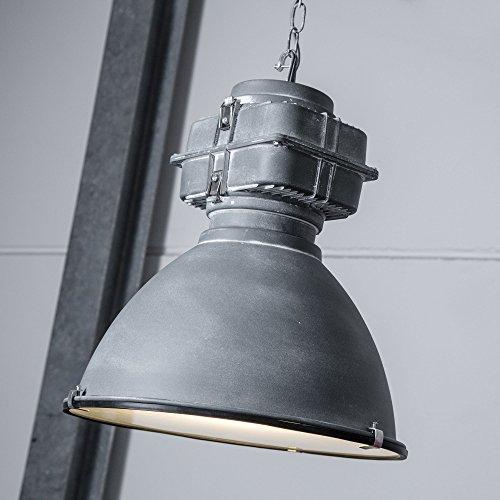 Lampada a sospensione in vetro verniciato stile Loft, vetro, 1x E27 max. 60W, metallo/vetro, grigio antico